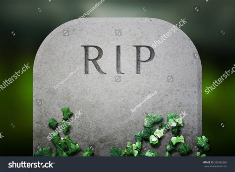 Rip Background Rip On Grave Funeral Background Stock Photo 392885260