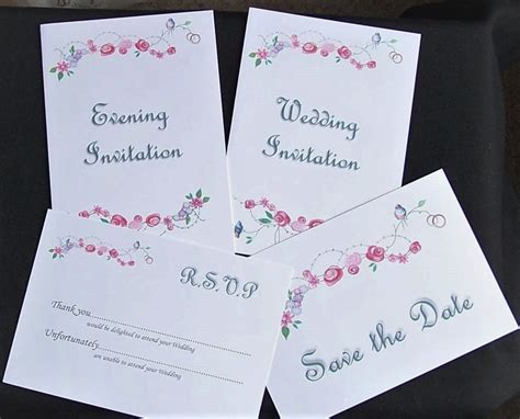 Cheap Diy Non Personalised Wedding Invitation Sets Printed