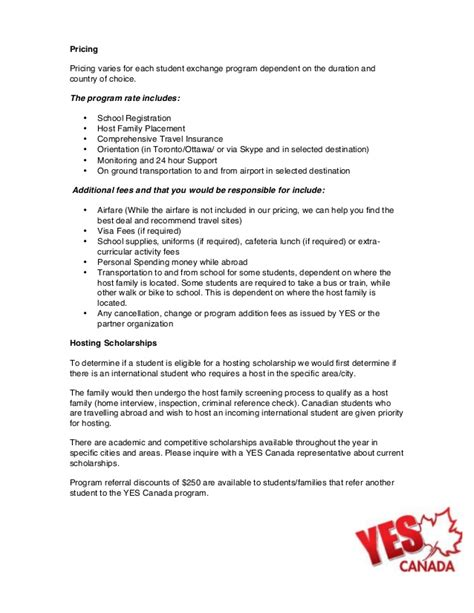 canada student exchange program information