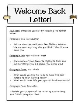 back to school letter from welcome back to school friendly letter by educational 20543