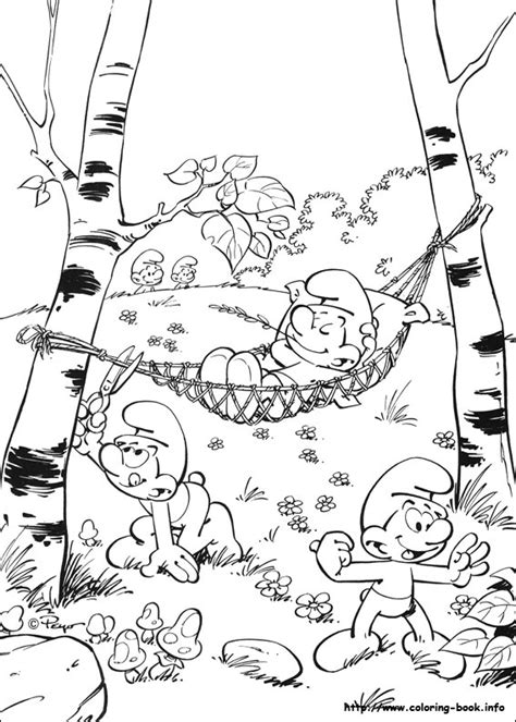 transmissionpress  smurf coloring pages