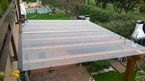 tettoia in policarbonato trasparente tettoie in policarbonato profilati alluminio