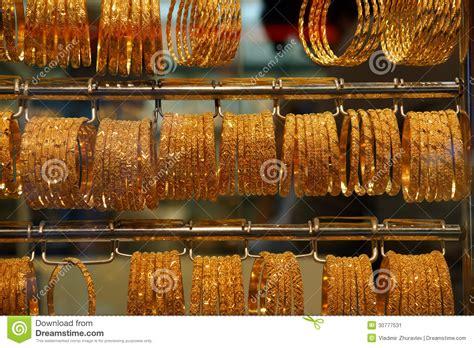 gold jewelry  sale   market stock image image