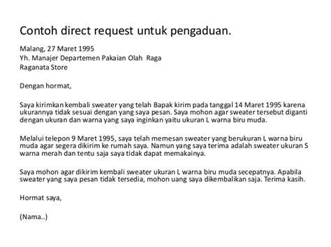 request contoh komunikasi bisnis komunikasi melalui surat