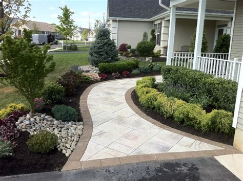 sidewalk landscaping ideas pictures paver walkway traditional landscape newark by brick by brick pavers and landscaping llc