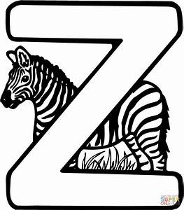 Letter Z is for Zebra coloring page | Free Printable ...