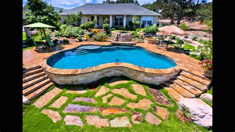 Ground Pool Landscaping Ideas  Youtube
