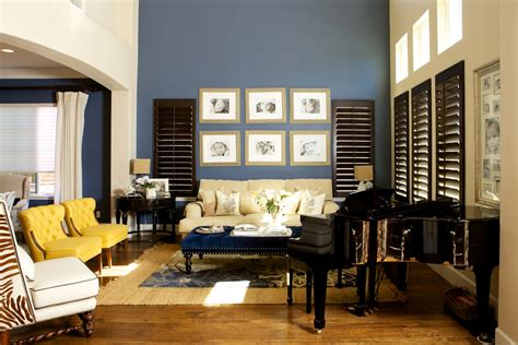 Blue Yellow And Beige Living Room by 20 Blue And Brown Living Room Designs Decorating Ideas