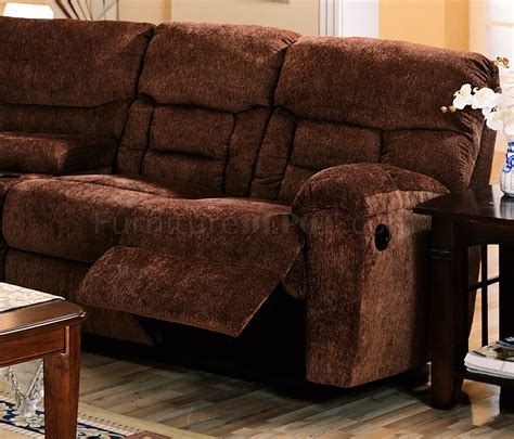 brown fabric recliner sofa brown chennile fabric sectional sofa w recliner seat