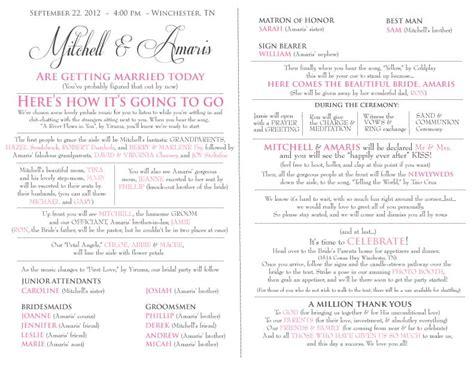 church wedding program wedding programs decoration