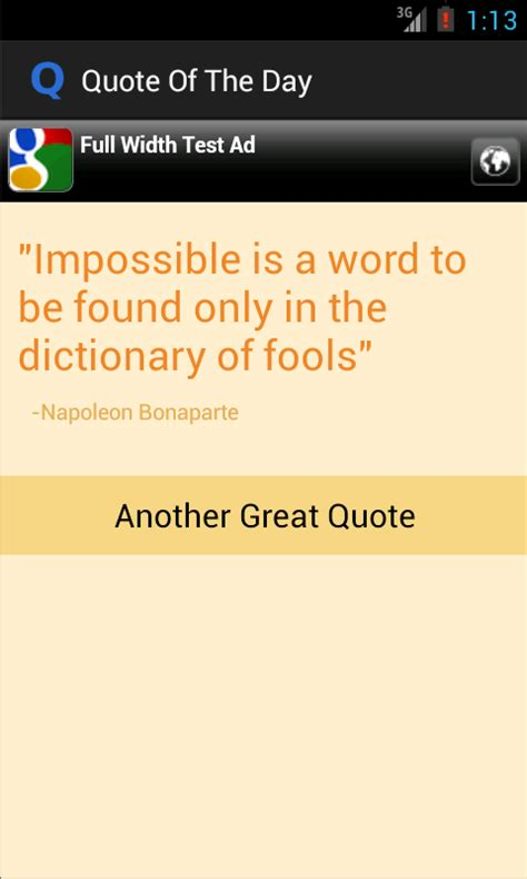 quote   day   android app