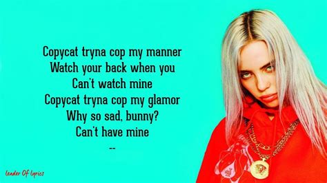 Billie Eilish - COPYCAT (Lyrics) - YouTube