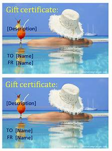 summer holiday gift certificate template gift certificates With vacation certificate template