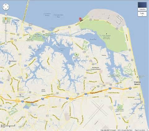 Virginia Beach Oceanfront Map
