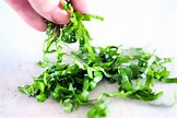 How to Cut a Chiffonade of Basil (or mint, spinach, etc ...