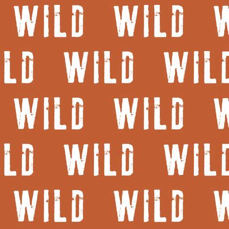 rust orange wild spoonflower fabric littlearrowdesign custom