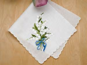 wedding handkerchief swiss of the valley something blue bridal handkerchief