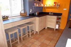 Meuble Cuisine Bois Naturel : ecologie design des meubles en bois massif cologiques ~ Teatrodelosmanantiales.com Idées de Décoration