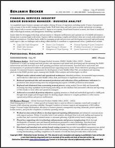 Free Sample Professional Bio Template Business Analyst Sample Resume Page 1 Business Analyst