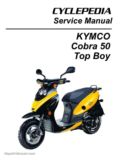 KYMCO Cobra 50 - Top Boy Scooter Service Manual Printed by ...