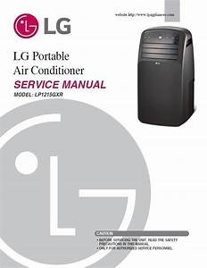 Lg Lp1215gxr Portable Air Conditioner Service Manual