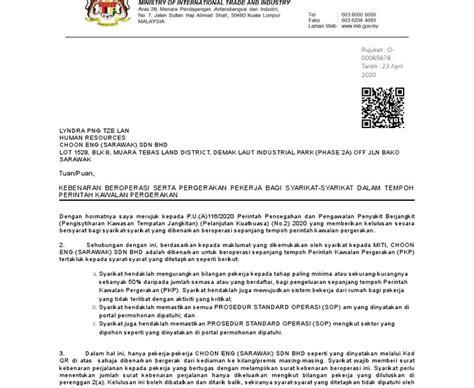 Jun 02, 2021 · kerajaan bersetuju melaksanakan perintah kawalan pergerakan diperketatkan (pkpd) di beberapa kawasan di pulau pinang, sabah dan pahang bermula dari 4 hingga 17 jun ini, kata menteri kanan (kluster. Surat Kebenaran Bekerja Pkp : Contoh Surat Kebenaran ...