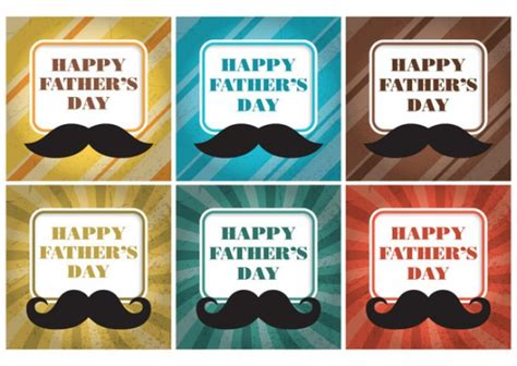 30699 Estihana Coupon by Fathers Day Moustache Labels Vector Free