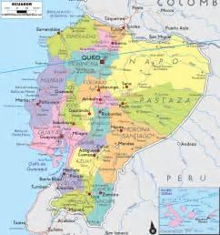 map of detailed political map of ecuador ezilon maps