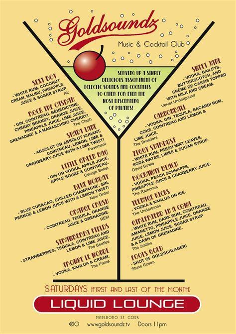 cocktail menu 1000 images about menus on menu design restaurant and trophy rooms
