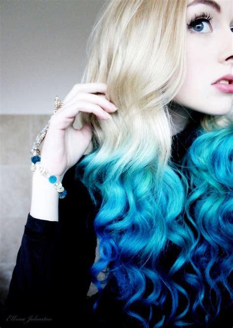 Blue Dip Dyed Hair On Tumblr