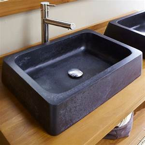 Waschtisch Holz Mit Aufsatzwaschbecken : waschbecken eckig stein ~ Bigdaddyawards.com Haus und Dekorationen