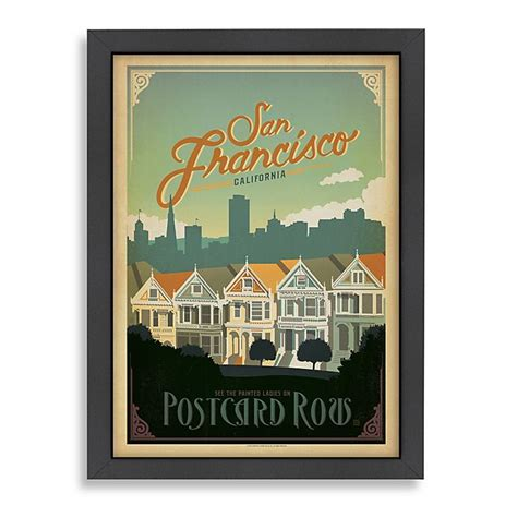 The postcards you find at the store only offer a few options: Americanflat San Francisco Postcard Row Framed Wall Art   Bed Bath & Beyond