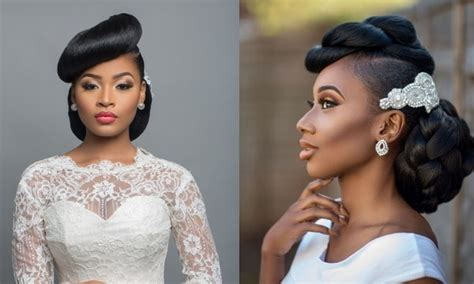 classy nigerian wedding hairstyles  brides  guests
