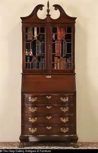 Mahogany Secretary Desk with Bookcase