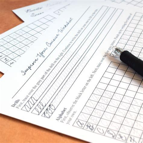 Improve Your Cursive Worksheet Set  The Postman's Knock