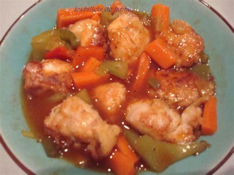 cuisiner le poisson poulet à la sauce aigre douce les billets de janna