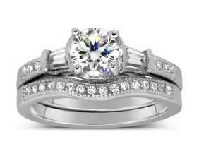 white gold wedding ring sets antique 1 carat wedding ring set for in white gold jeenjewels