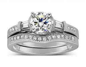 antique 1 carat round diamond wedding ring set for her in With 1 carat wedding ring set