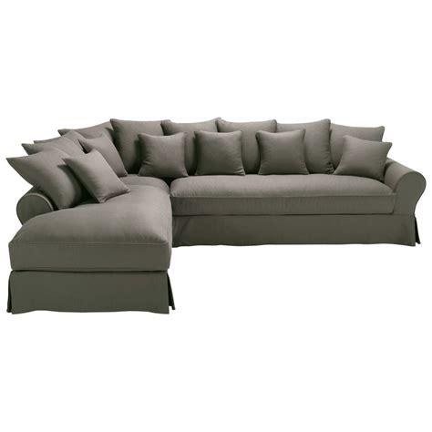 canapé d angle taupe canapé d 39 angle gauche 6 places en taupe grisé bastide