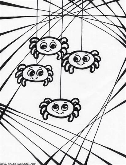 Spider Coloring Pages Halloween Printable Web Spiders