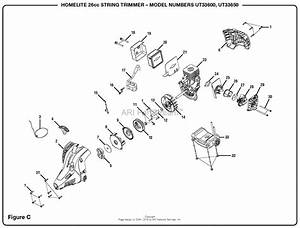 Homelite Ut33650 26cc String Trimmer Parts Diagram For