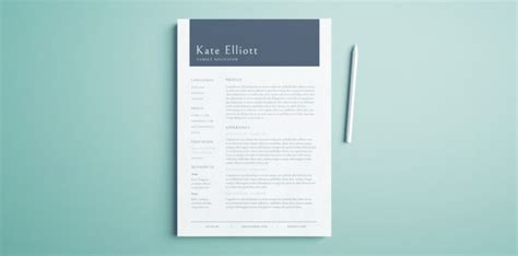 professional resume template  indesign templates