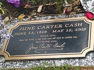 Grave Marker- June Carter Cash, American musician and ...