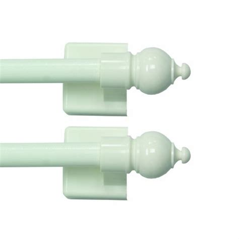 Sidelight Window Curtain Rods by Kenney Sidelight Magnetic Rods 8 75 To 15 75 Inch