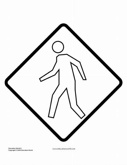 Signs Coloring Pages Sign Printable Templates Traffic