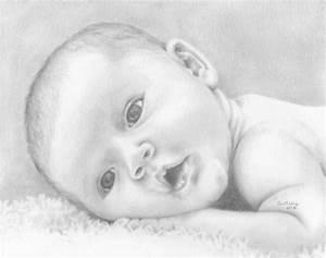Items similar to Custom Newborn Drawing, Baby Illustration ...