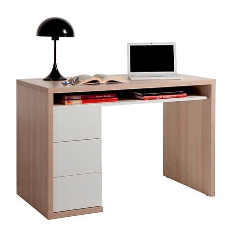 bureau blanc alinea bureau bicolore avec 3 tiroirs moneta bureaux adultes