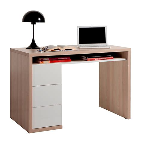 alinea le de bureau bureau bicolore avec 3 tiroirs moneta bureaux adultes