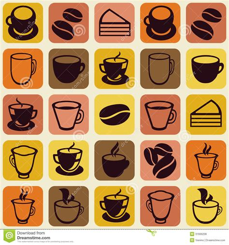 Vector Seamless Pattern With Tea And Coffee Cups Royalty Free Stock Photos   Image: 31666208