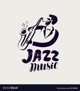 Jazz logo or label live music musical festival Vector Image